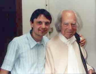 Il Maestro Jean Klein insieme a Mario Di Grazia
